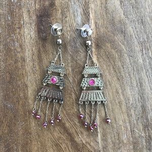 Jewelmint Bohemian Gold & Pink Drop Earrings